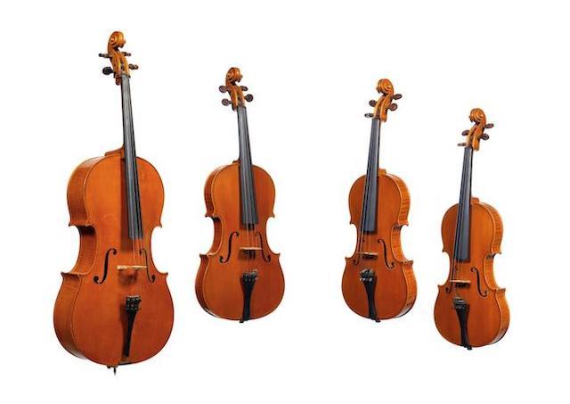 A rare String Quartet by Cesar Castelli, Asculi in Piceno 1969 comprising a Violoncello, A Viola and Two Violins (4) (8)