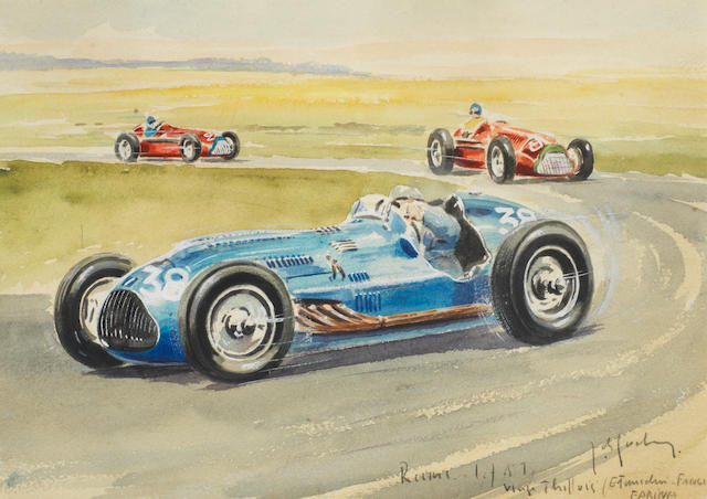 ROB ROY (1909-1992), « GRAND PRIX DE L'ACF 1951', ŒUVRE ORIGINALE,