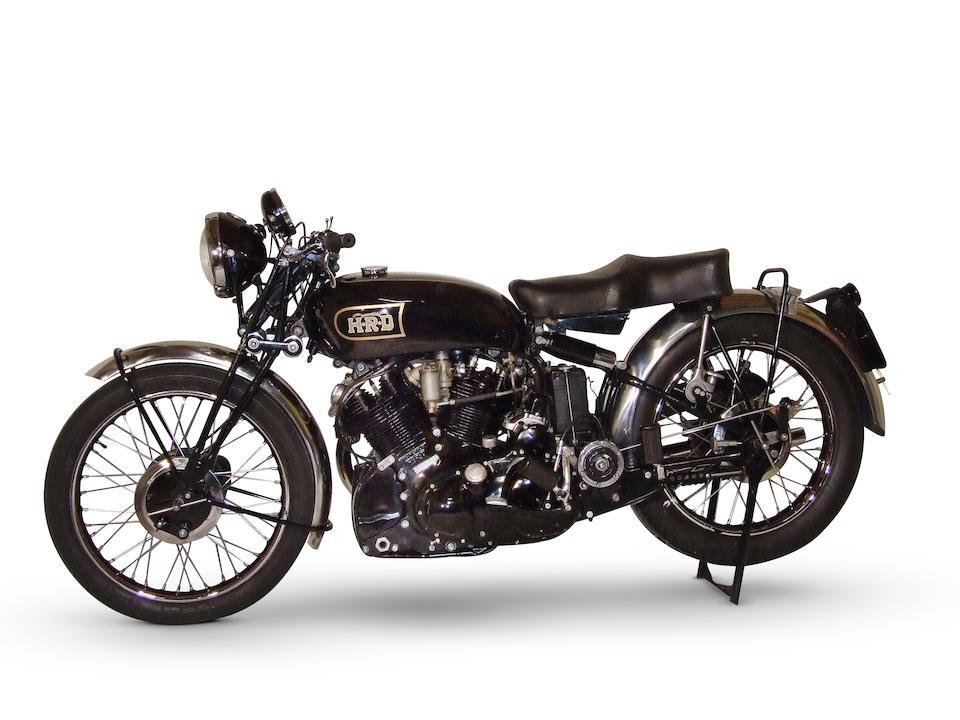 Vincent-HRD Série C Black Shadow 998 cm3 1949 Frame no. RC10707 Engine no. F10AB/1B/2662