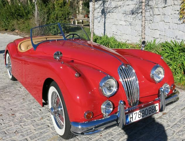 Equipée de l'option culasse Type C,Jaguar XK140 SE roadster 1955