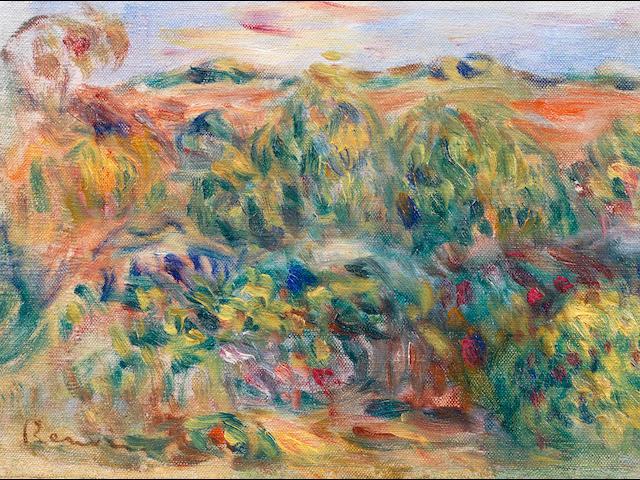 Pierre-Auguste Renoir (French, 1841-1919) Paysage du midi (Painted circa 1910)