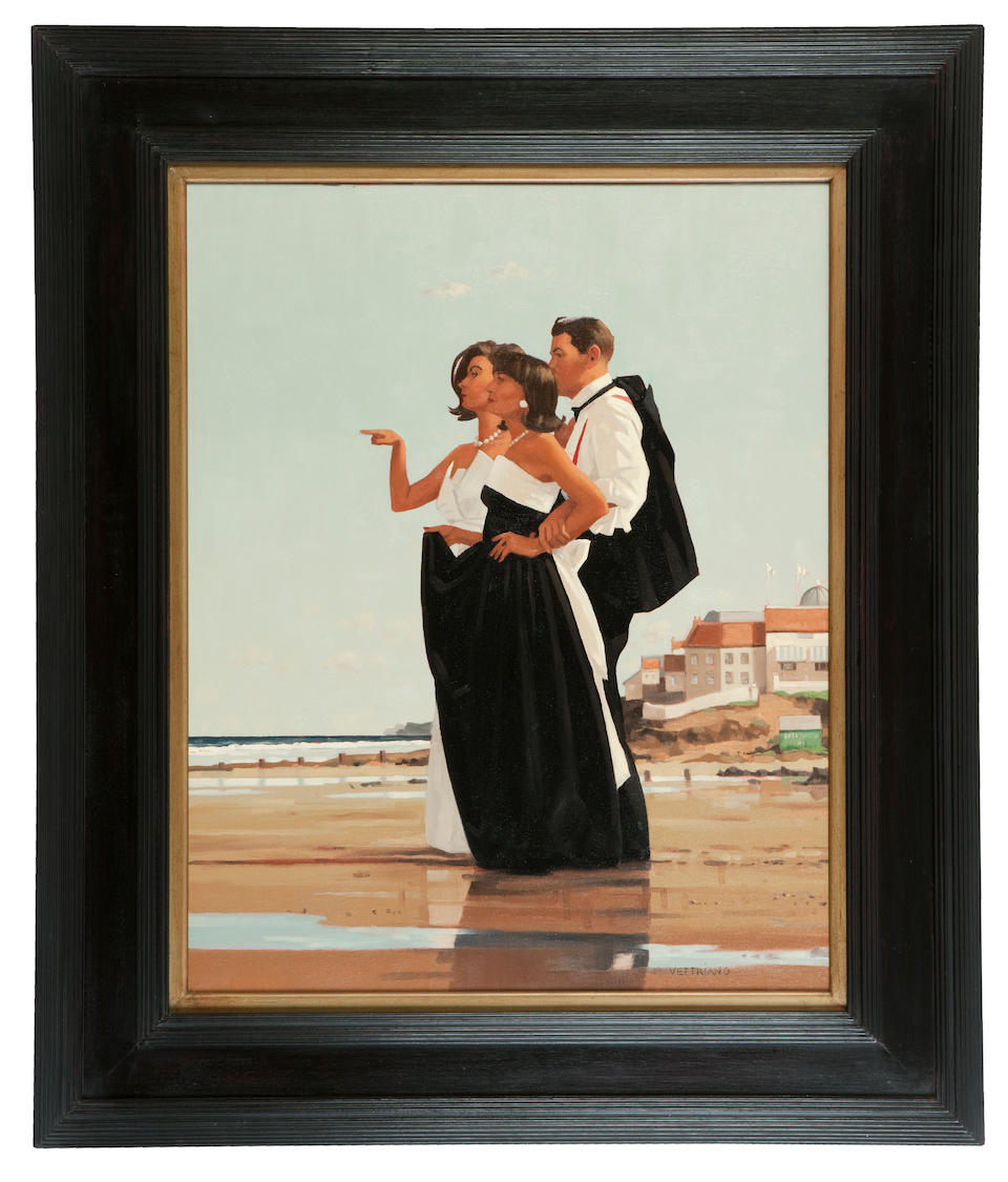 Jack Vettriano OBE Hon LLD (British, born 1951) The Missing Man II 76 x 61 cm. (29 15/16 x 24 in.) Painted in 1997