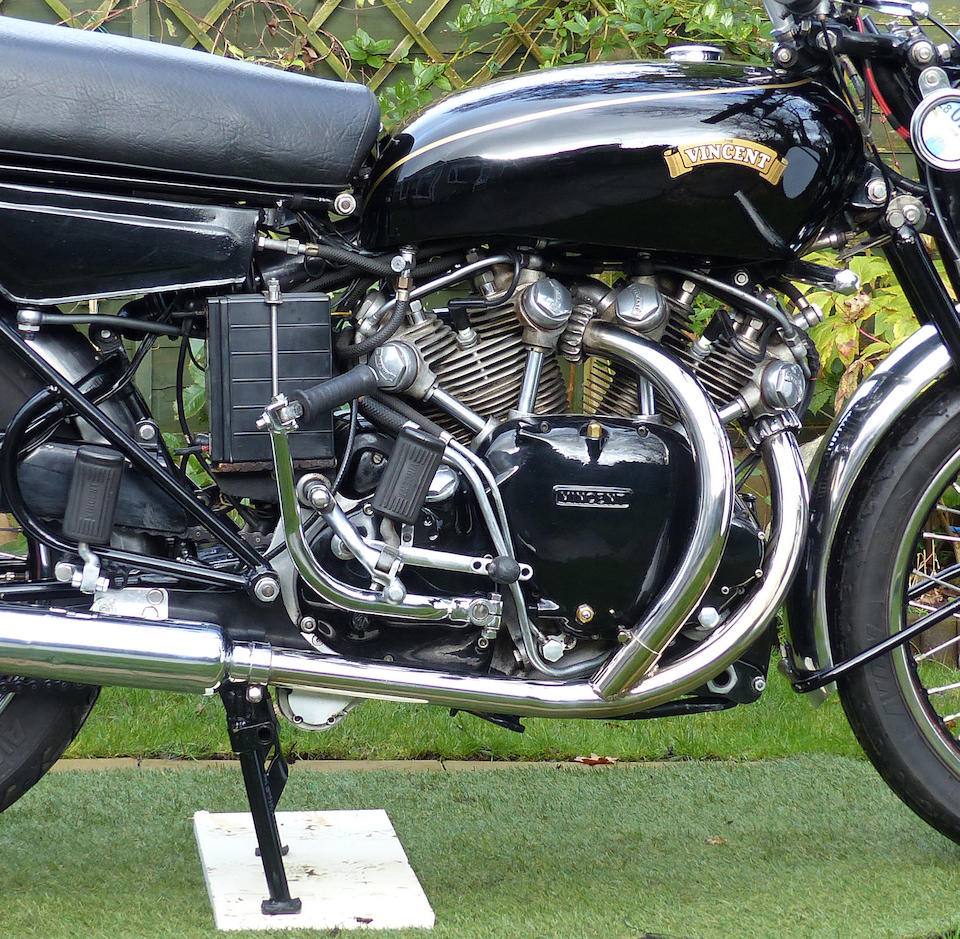 One owner for the last 52 years,1955 Vincent 998cc Black Shadow Series-D Frame no. RD12755B Engine no. F10AB/2B/10855