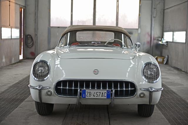 Datant de la première année complète de production,Chevrolet Corvette C1 roadster 1954