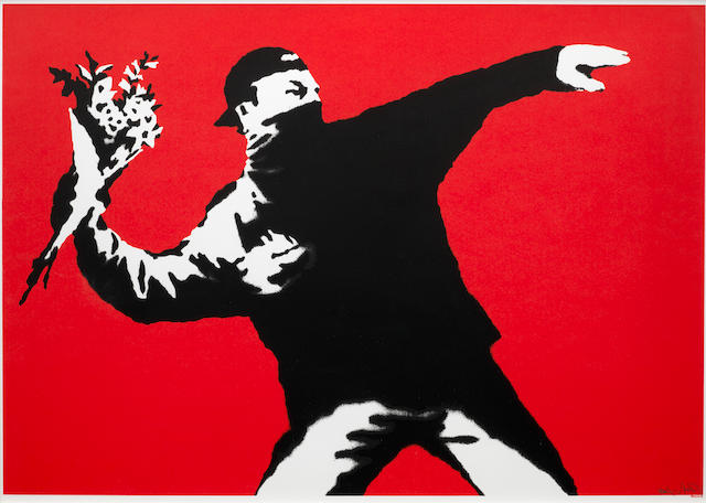 Banksy (British, born 1975) Flower Thrower 2003