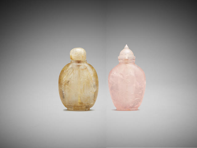 Two Chinese quartz snuff bottles Late Qing Dynasty to Republic Period (2)