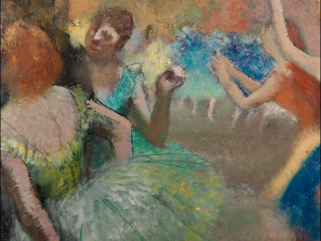 Edgar Degas (French, 1834-1917) Scène de ballet (Painted circa 1885)
