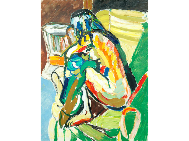 John Bratby R.A. (British, 1928-1992) Diana seated in a chair