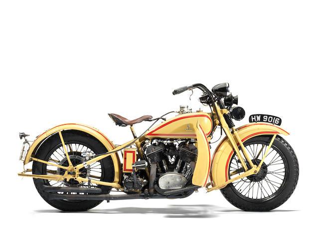 1930 Harley-Davidson 74ci VL 'Big Twin' Frame no. 30 1651 Engine no. 30V8795