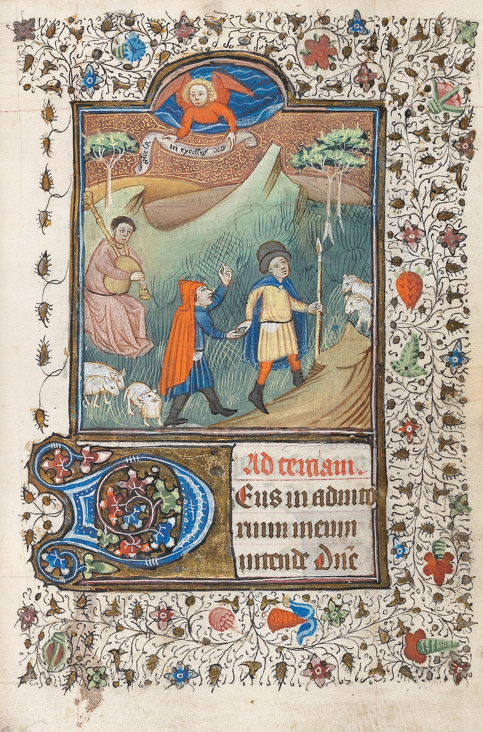 ILLUMINATED MANUSCRIPT BOOK OF HOURS, Use of Rome, [Flanders, probably Bruges, mid fifteenth century]