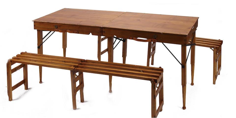 A portable Scott's Aggra shooting table,