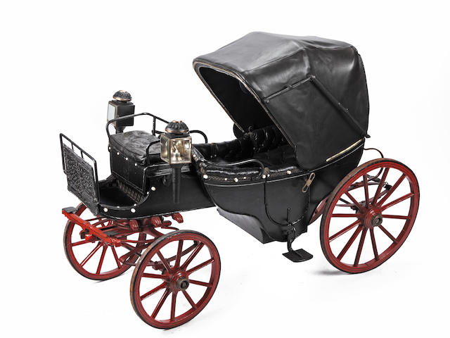 A Childs Barouche toy carriage, circa 1860,