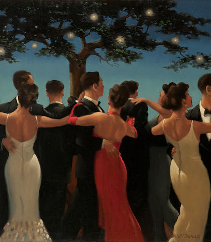 Jack Vettriano OBE Hon LLD (British, born 1951) Waltzers 80 x 72 cm. (31 1/2 x 28 3/8 in.) Painted in 1992
