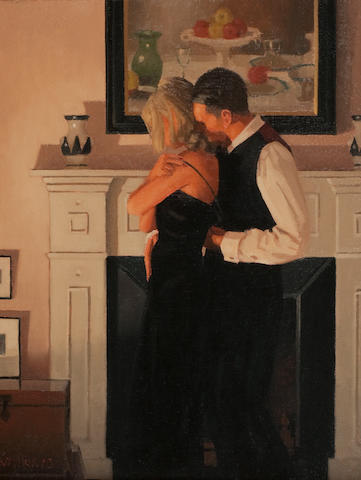 Jack Vettriano OBE Hon LLD (British, born 1951) Beautiful Losers 37.5 x 32 cm. (14 3/4 x 12 5/8 in.)