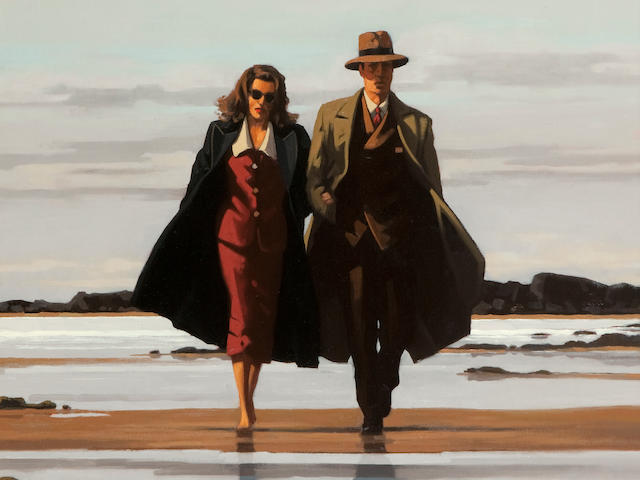 Jack Vettriano OBE Hon LLD (British, born 1951) The Road to Nowhere 81 x 71 cm. (31 7/8 x 27 15/16 in.) Painted in 1996