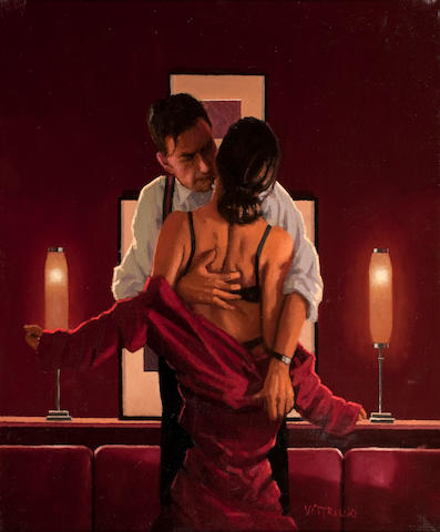 Jack Vettriano OBE Hon LLD (British, born 1951) The Embrace of the Spider 61 x 51 cm. (24 x 20 1/16 in.) Painted in 2004