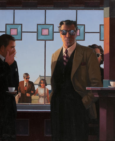 Jack Vettriano OBE Hon LLD (British, born 1951) The Truth Discovered 60.5 x 50 cm. (23 13/16 x 19 11/16 in.) Painted in 1999