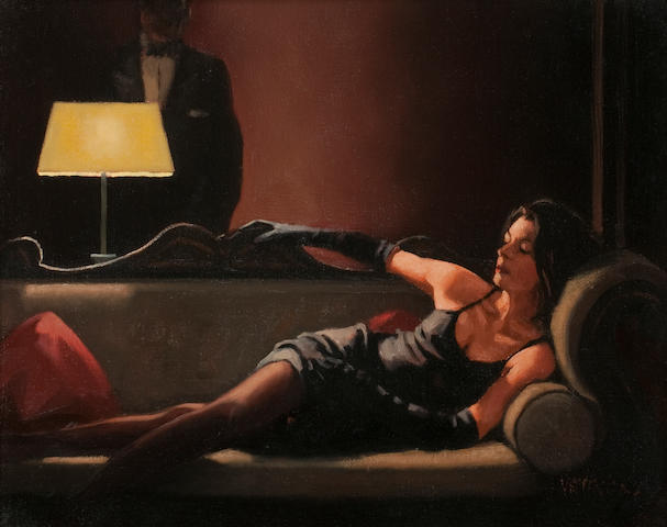 Jack Vettriano OBE Hon LLD (British, born 1951) Along Came a Spider II 30 x 37 cm. (11 13/16 x 14 9/16 in.) Painted in 2004