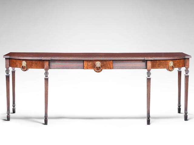 A Regency mahogany and crossbanded serving table in the Southill taste