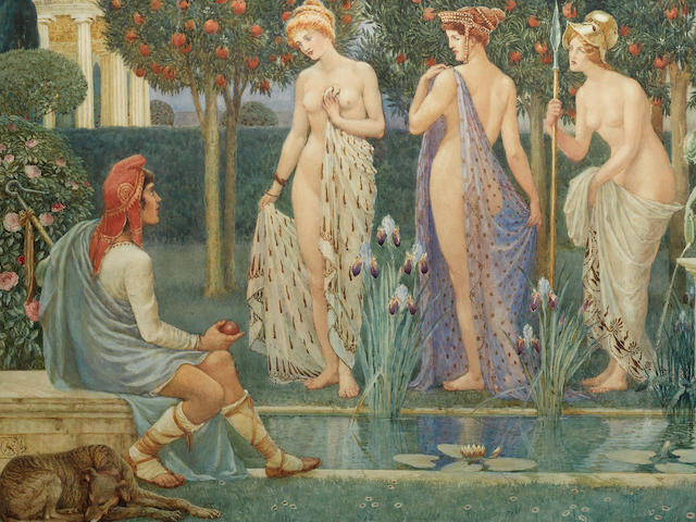 Walter Crane (British, 1845-1915) The Judgment of Paris