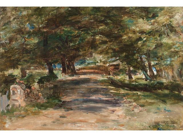 William McTaggart RSA RSW (British, 1835-1910) Sunlit avenue