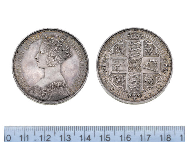 Victoria, Crown, 1847, Gothic type, bust left,