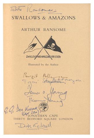 RANSOME (ARTHUR) Swallows & Amazons, FIRST ILLUSTRTED EDITION, Jonathan Cape 1931; and others, mostly Kelsall family copies (8)