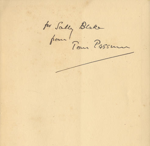 ELIOT (T.S.) Old Possum's Book of Practical Cats, FIRST EDITION, AUTHOR'S PRESENTATION COPY TO SALLY BLAKE, Faber and Faber, 1939