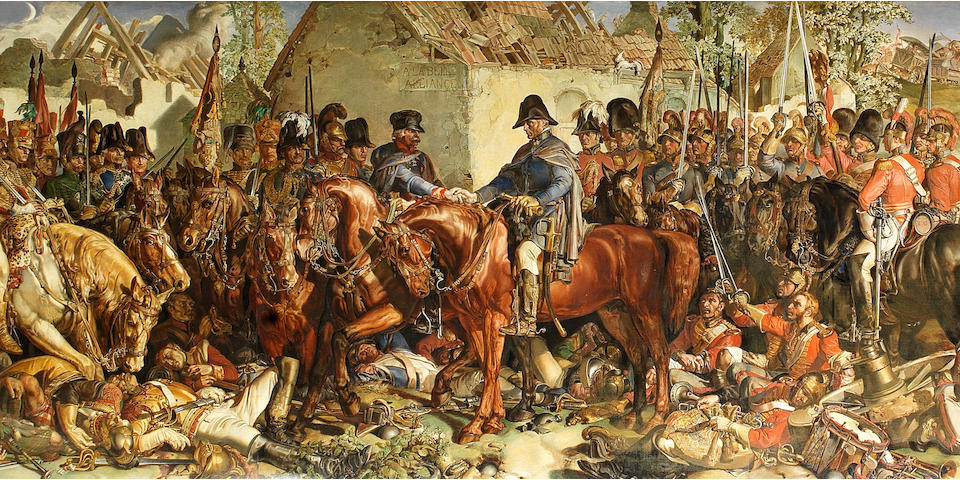 Attributed to Arthur Stocks (British, 1846-1889), After Daniel Maclise (Irish, 1806-1870) The Meeting of Wellington and Blücher after the Battle of Waterloo