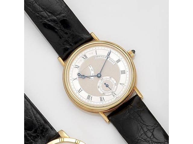 Breguet. An 18ct gold manual wind wristwatch with power reserve Classique, Ref:3380, Case No.2103E, Movement No.5932, Circa 1995