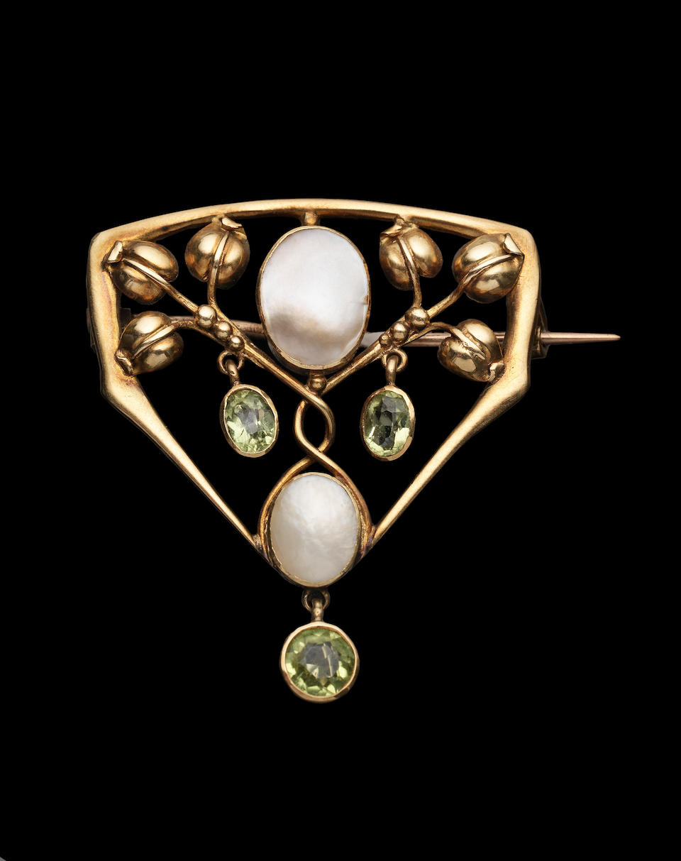 Liberty & Co. Two Arts and Crafts Gem Set Brooches, circa 1900
