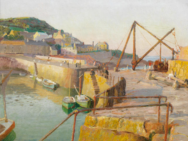 Harold Harvey (British, 1874-1941) Mousehole