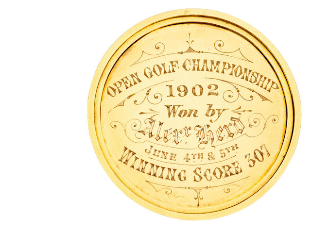 "The 1902 Open Golf Championship Winner's Medal won by Alexander ""Sandy"" Herd By Sutherland & Horne, Edinburgh, 1902"