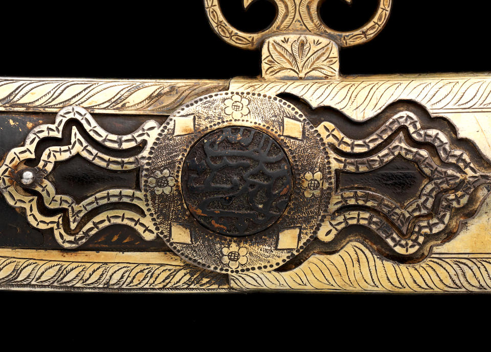 An important rare gem-set Sword with Tiger's head pommel from the Royal Regalia of Tipu Sultan Seringapatam, circa 1787-93(2)