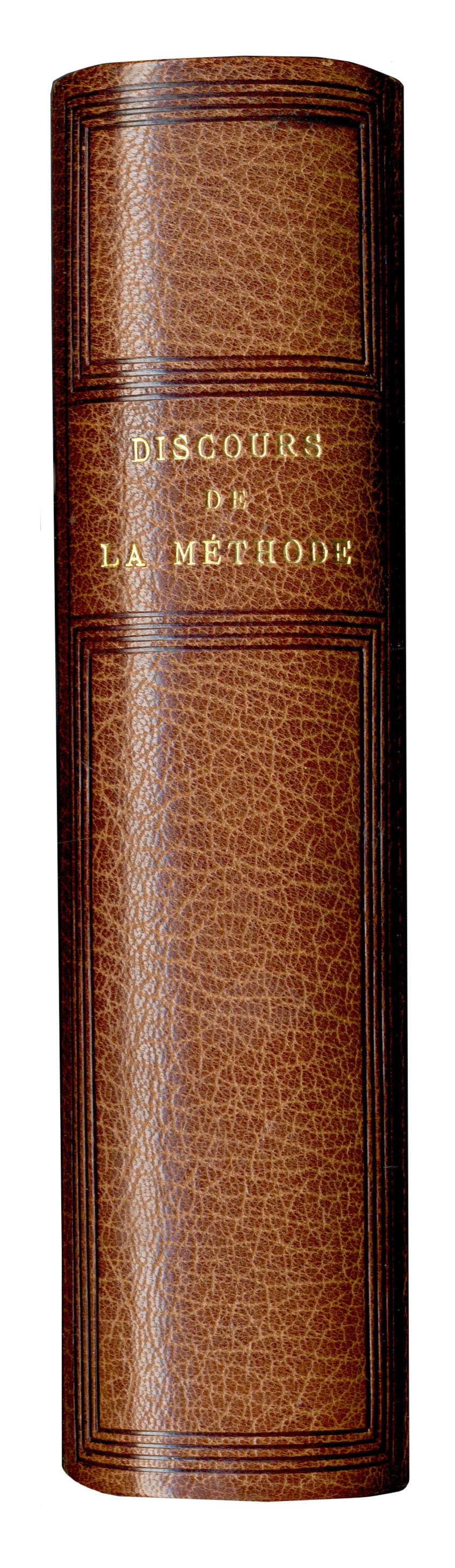 DESCARTES (RENÉ) Discours de la methode pour bien conduire sa raison, & chercher la verité dans les sciences. Plus la dioptrique. Les meteores. Et la geometrie, Leiden, Jan Marie, 1637