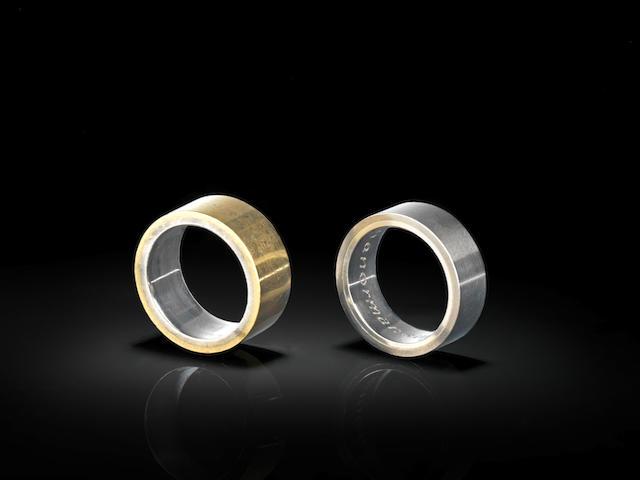 Two band rings, designed by Norman Foster (2)
