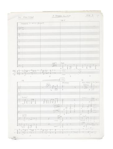 Orchestral scores, various dates,