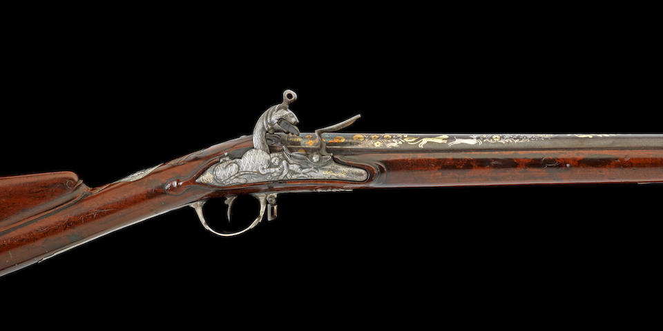 A silver-mounted Flintlock Sporting Rifle from the Royal Armoury of Tipu Sultan, by Asad-e Rahman Seringapatam, dated Mawludi 1222/ AD 1793-94