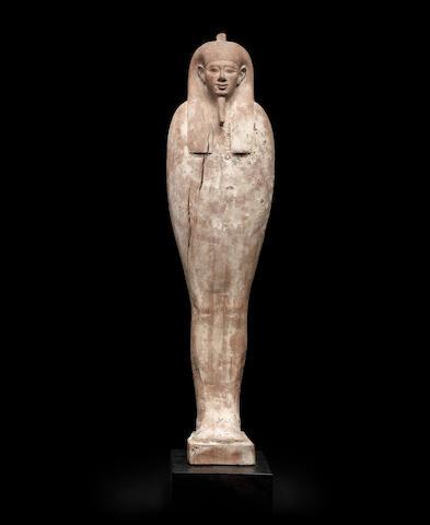 An Egyptian wood figure of Ptah-Sokar-Osiris