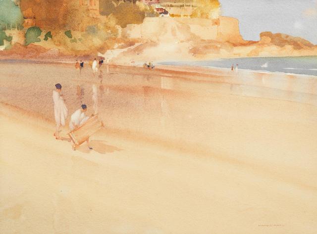 Sir William Russell Flint, RA, PRWS (British, 1880-1969) Early arrivals, Dinard