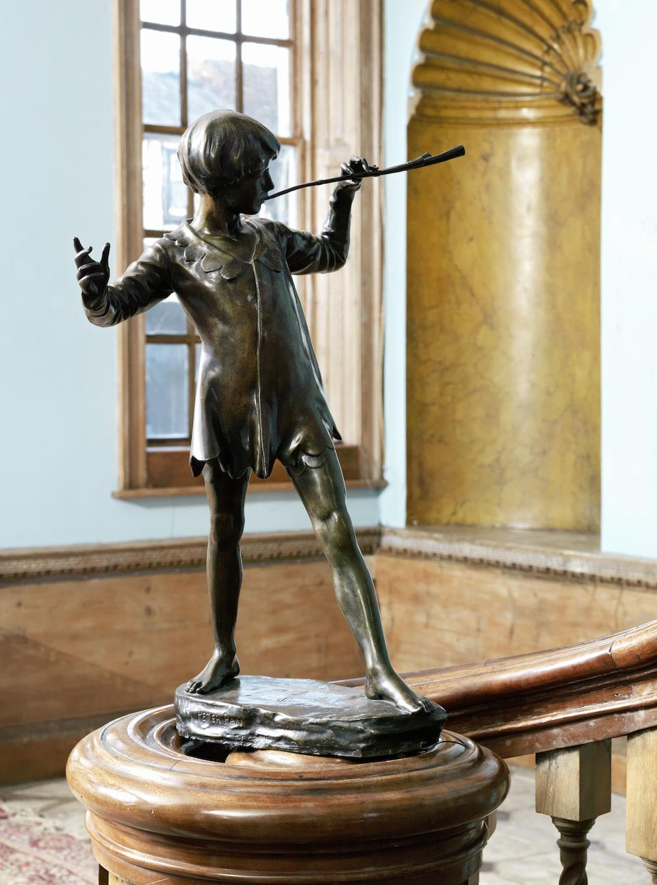 Sir George Frampton (British, 1860-1928) A bronze figure of Peter Pan