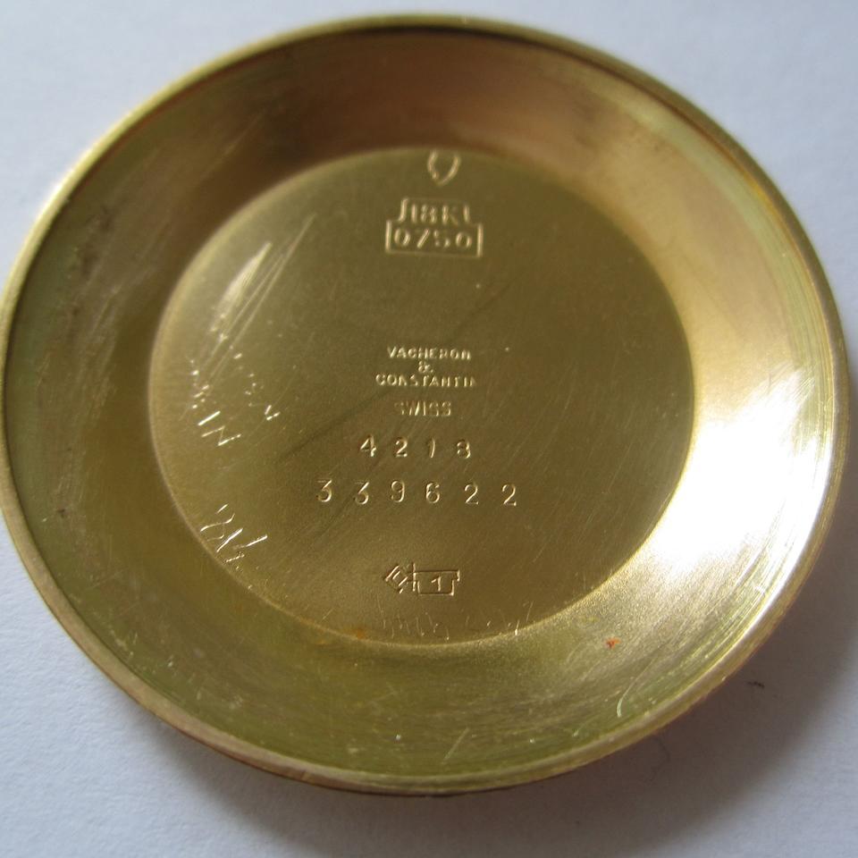 Vacheron Constantin. An 18ct gold manual wind bracelet watch  Ref:4218, Case No.339622, Movement No.509636, Circa 1954