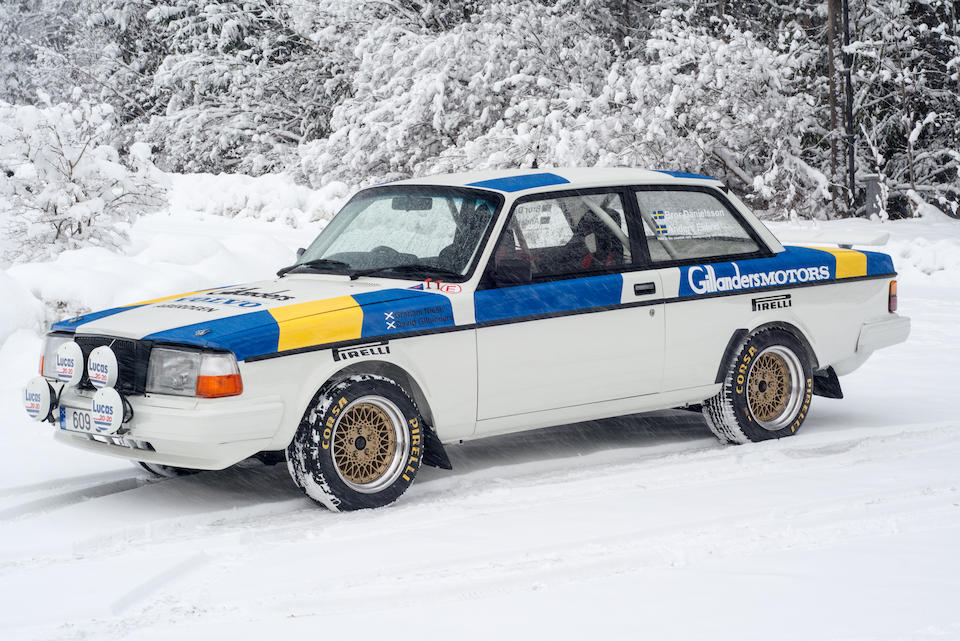 The ex-works, Greger Pettersson, Bror Danielsson,1983 Volvo 242 Turbo Rally Car  Chassis no. 242 083003