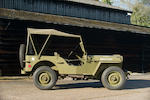 1944 Willys Jeep  Chassis no. MB341332 Engine no. WOF 19065