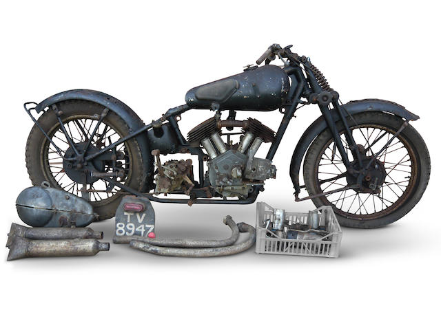1933 Brough Superior 1,096cc 11-50hp Project Frame no. 1296 Engine no. 33540 SD