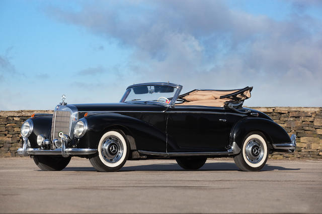 One of only 203 examples produced,1954  Mercedes-Benz  300 S Cabriolet A  Chassis no. 188-010-4500019  Engine no. 188.920- 3500380