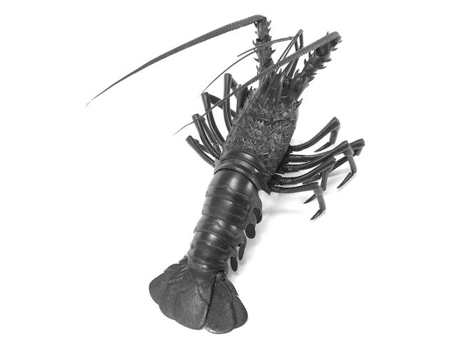 A fine iron kusshin jizai (fully articulated) okimono model of a spiny lobster Anonymous, Meiji Period (2)