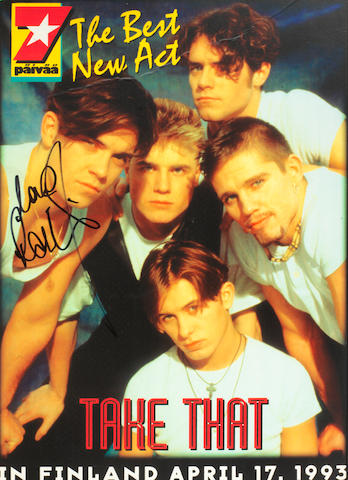 Take That: A BMG award for the album Everything Changes, Korea, 1994, 2