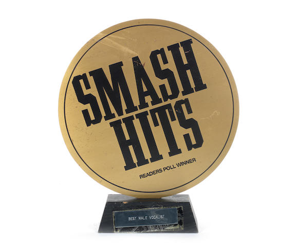 A Smash Hits award presented to Robbie Williams, 1990s,