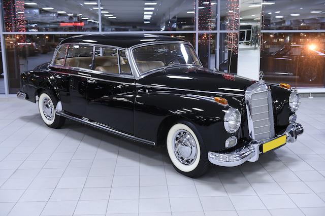 Formerly used by Todor Zhivkov, First Secretary of the Bulgarian Communist Party,1958 Mercedes-Benz  300d 'Adenauer' Limousine  Chassis no. 189.010-A8500918 Engine no. 189.981-8500204